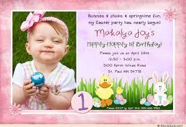 bunny birthday invitation photo easter colors
