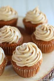 cake cupcakes with brown sugar cream cheese frosting