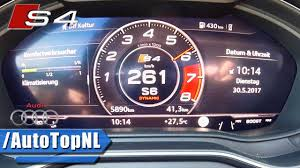audi s4 top speed 2017 audi s4 acceleration top speed 0 261km h by autotopnl