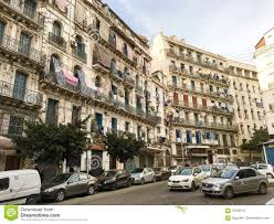 french colonial buildings at algeria alger buildings are being
