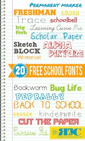 20 free back to fonts momskoop