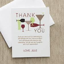 personalized thank you cards personalized birthday thank you cards raise your glass