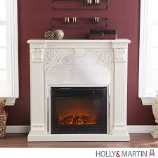 holly u0026 martin andorra electric fireplace ivory freestanding