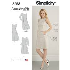 simplicity pattern 8258 misses u0027 and plus size amazing fit dress