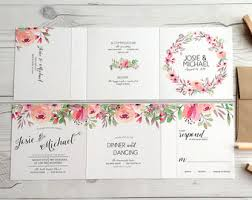 tri fold wedding invitations wedding weekend itinerary accordion fold cards custom