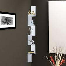 homcom 12lx12wx120h cm 5 tier corner shelf rack white aosom co uk