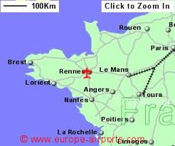 rennes map rennes st jacques airport rns guide flights