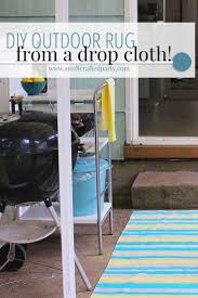 Diy Outdoor Rug Diy Outdoor Rug From A Drop Cloth U2014 A Well Crafted Party