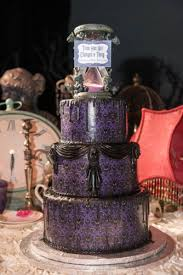 celebrate with this haunted mansion inspired wedding cake