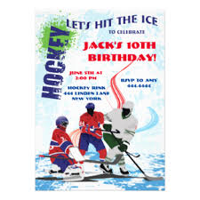 hockey birthday invitations u0026 announcements zazzle