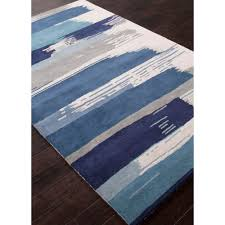 White Modern Rug by Jaipur En Casa By Luli Sanchez Tufted Painterly Blue White Lst35
