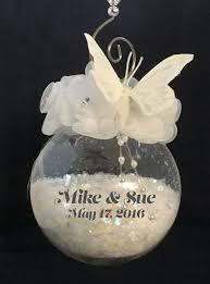 Personalized Wedding Christmas Ornaments Wedding Ornaments Gingerspice Studio