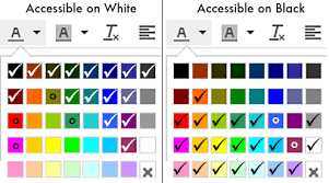 canva color palette ideas canvas accessibility distance education