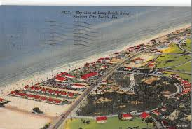 Map Of Panama City Beach Panama City Beach Florida Long Beach Resorts Air View Antique