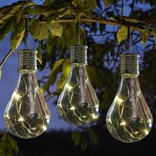 Hanging Tree Lights by Solar Powered Led Lightbulb Eureka Hanging Lantern By Smart Garden