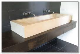 Double Trough Sink Bathroom Bathroom Trough Sink Double Faucet Sinks And Faucets Home