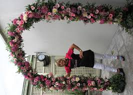 flower arch wedding flowers photo
