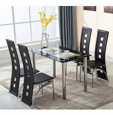 five piece dining room sets 5 piece dining table set 4 chairs kitchen room round glass