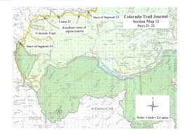 Colorado Trail Maps by Section Maps Colorado