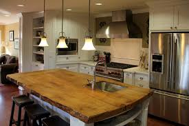 kitchen island wood countertop rustic wood countertops kitchen contemporary with concrete