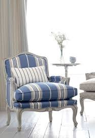 Patterned Armchair Design Ideas Striped Chairs Design Ideas Intended For Blue And White Chair 38