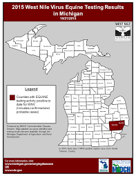 Allegan Michigan Map by Emerging Disease Issues 2015 Surveillance Maps