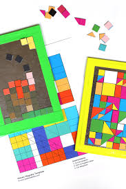 art ideas for kids diy mosaic magnets babble dabble do