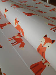 Peal And Stick Wallpaper Removable Wallpaper Fox Wallpaper Fox Print Wallpaper