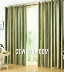 Brown And Green Curtains Designs with Green And Yellow Striped Curtains For Chic Style