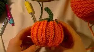 loom knit pumpkin beginning to end youtube