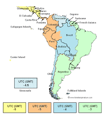 map of south america in america zone map