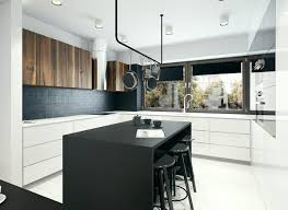modern kitchen cabinet design 2014 white cabinets with black