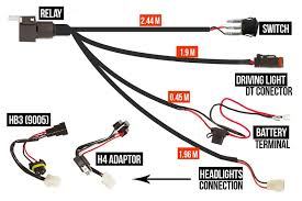 h4 hb3 wiring harness for led driving lights gemtek australia