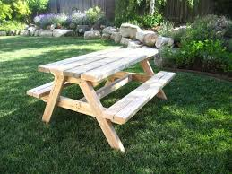 Free Woodworking Plans For Outdoor Table by 13 Free Picnic Table Plans In All Shapes And Sizes