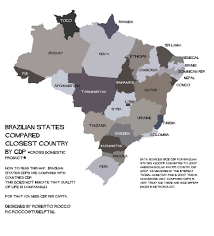 Brazil Map States by Brazilian States Gdp 2007 Compared To Countries Flickr