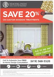 save 20 on custom window treatments 3 day blinds