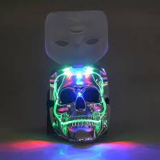 Led Light Halloween Costume Plastic Skull Mask Promotion Shop Promotional Plastic Skull