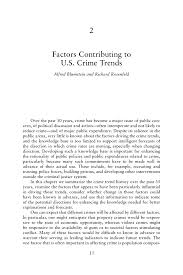 how to write introduction for a research paper 2 factors contributing to u s crime trends alfred blumstein and page 13