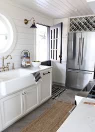 shiplap kitchen backsplash with cabinets shiplap kitchen planked walls sink stove the