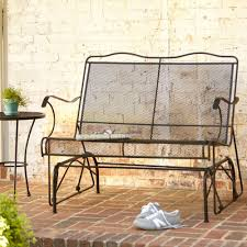 Outdoor Glider Rocker by Wrought Iron Rocker Patio Chairs 17670
