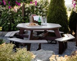 Impressive Octagon Wood Picnic Table Build Your Shed Octagonal by Berlin Gardens Octagon Picnic Table From Dutchcrafters Amish Furniture