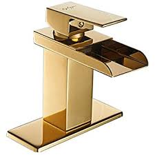 Gold Bathroom Faucets Rozin Swan Design Single Hole Bathroom Basin Faucet One Lever