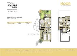 noor townhouses floor plans binayah real estate