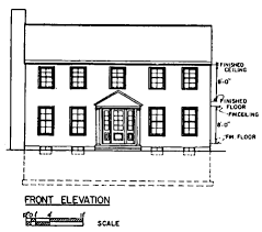 marvellous design 13 front view of a colonial house plans plan 3