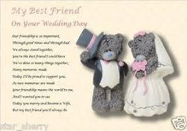 my best friend on your wedding day laminated gift ebay