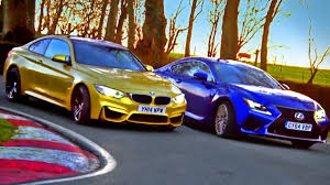 lexus is or bmw 3 which is quickest bmw m4 vs lexus rc f 3 3 fifth gear youtube