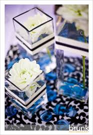 my wedding colors black white damascus and blue wedding