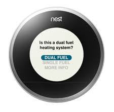 is the nest learning thermostat compatible with dual fuel hybrid
