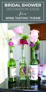 themed bridal shower decorations peonies wine and diy centerpieces themed bridal