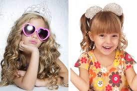 cute hairstyles with hair accessories of kids for christmas